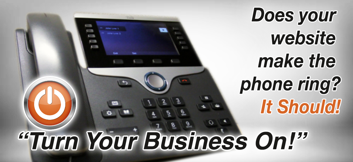 Does your website design make your business phone ring?  Call AdverGroup Web Design