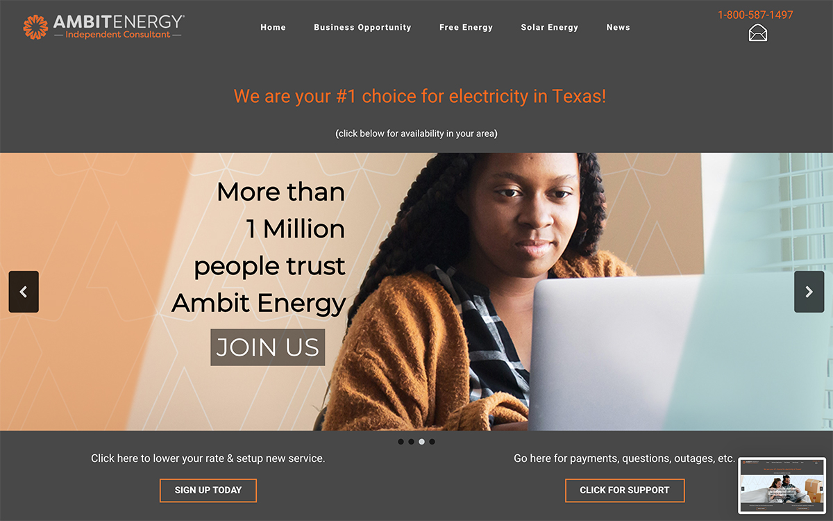 Web Design for Independent Energy Consultants in Chicago, Lake Zurich and Dallas, Texas