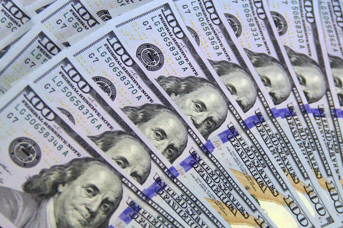 License free money images 100 bills one hundred dollar bills click to enlarge image 100 dollar bill img3502g voltagebd Choice Image