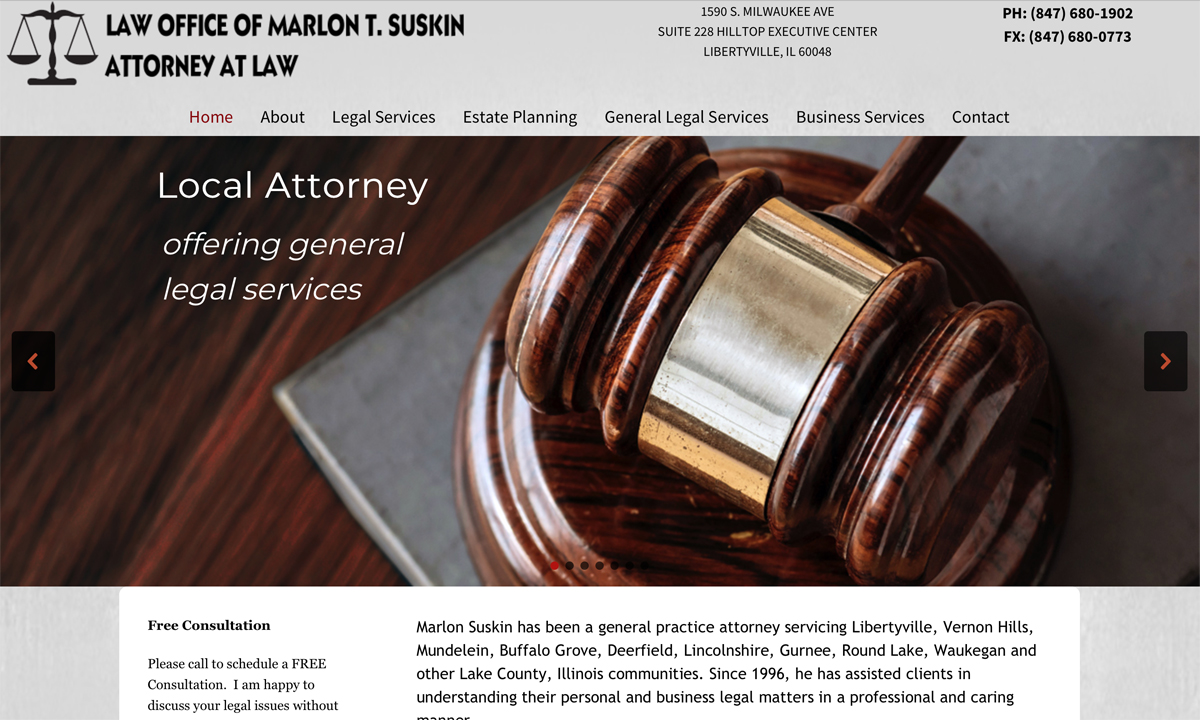 Attorney Website Design Libertyville