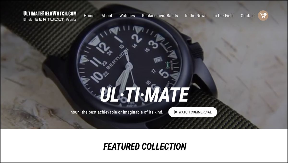 eCommerce Web Design for Bertucci Watches in Gurnee IL
