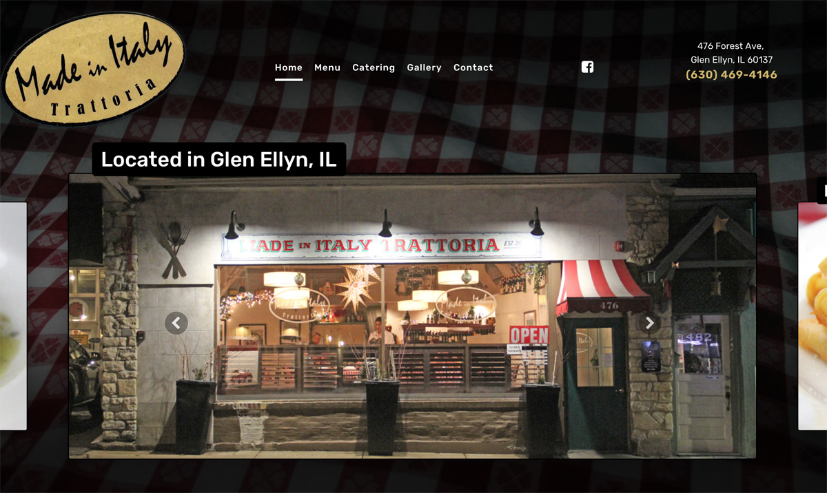 Restaurant Website Design Glen Ellyn