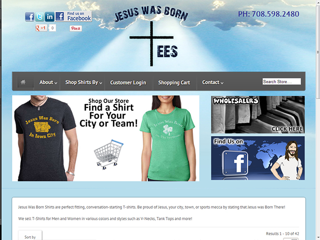 WEB SITE SAMPLE -Jesus Was Born