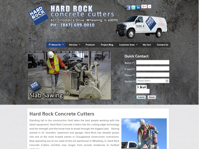 WEB SITE SAMPLE - HARDROCK web