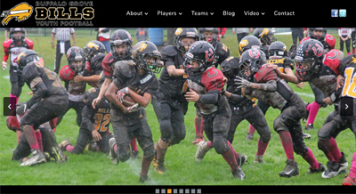 Buffalo Grove Sports Team Website Design for Bills Youth Football